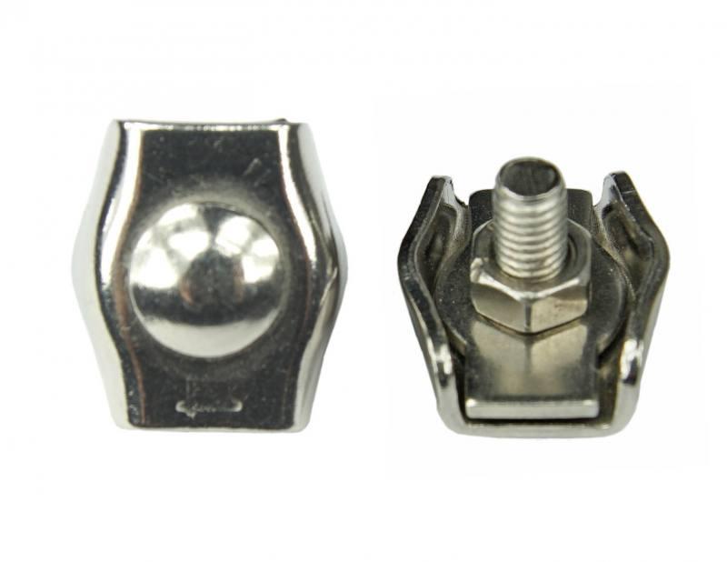 Edelstahl Drahtseilklemme, Simplex-Klemme für Drahtseile mit 3mm ...