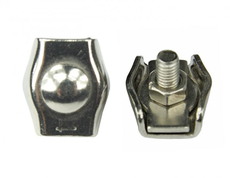 Edelstahl Drahtseiklemme, Simplex-Klemme für Drahtseile mit 5mm, V4A ...