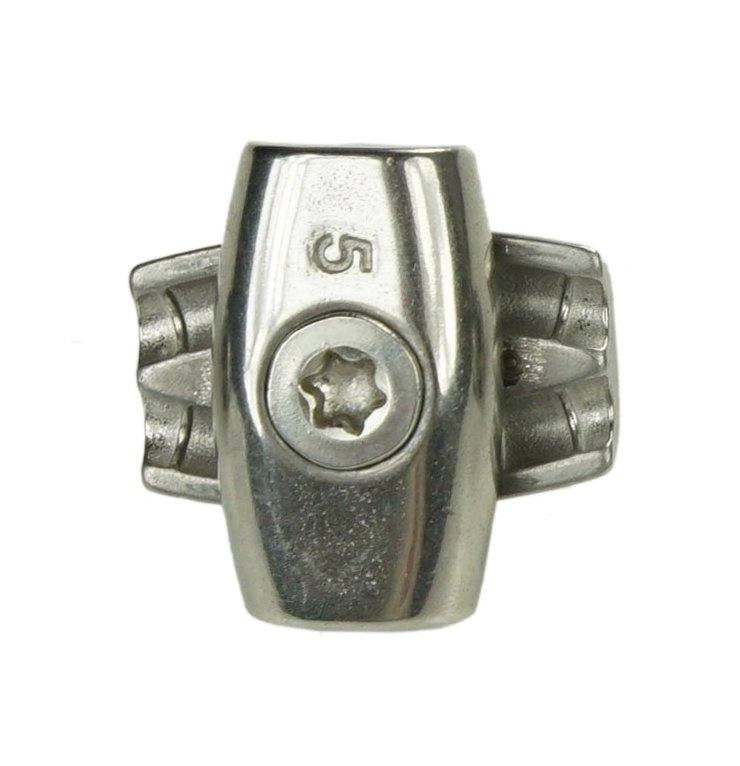 Edelstahl Drahtseiklemme, Eiform, Eiklemme, für Drahtseile mit 4mm, V4A