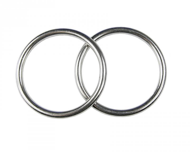 Edelstahlringe  2x Edelstahl Ringe, D-Ring, Öse, 4x40 mm, rostfrei V4A